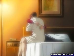 Schoolgirl hentai gets sucking her wetpussy a