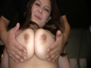 Yuki Sakurai is enormously busty. She knows how to use those massive knockers...