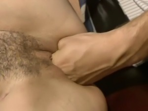 Hard office sex with two cock hungry sluts taking turns in riding and sucking...