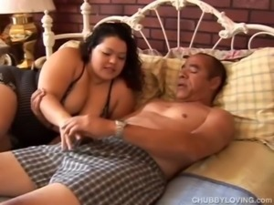Cute chubby latina has lovely l ... free