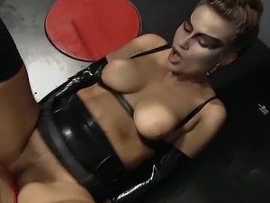 These weird sluts like kinky stuff. Pissing, bondage and leather turns them on