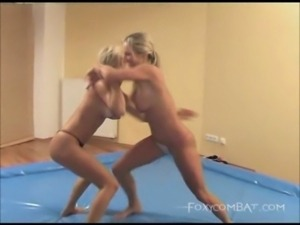 Two beautiful babes in a foxy c ... free