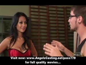 Long hair brunette asian girl d ... free