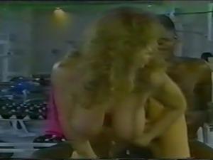 Tracey Adams - Interracial Gym Sex Scene