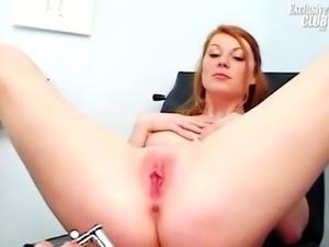 Helga gyno pussy speculum examination on gynochair at kinky clinic