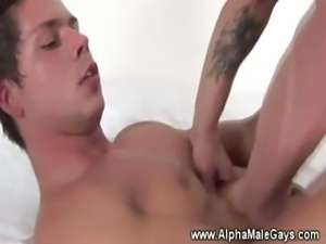 Stud tbags hungry hunk and gets anal
