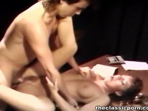 Cheerleader's fuck on the table