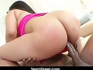 TeamSkeet Chubby big tits Asian Kya Tropic interracial sex