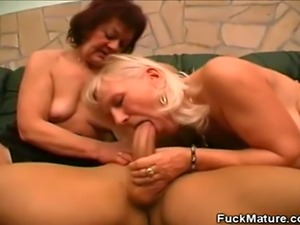 We have these mature honey in this hot scene as they share a studs cock....