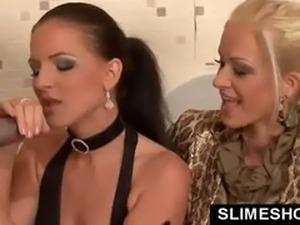2 kinky european babes at gloryhole in toilet