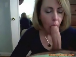 Sexy MILF  Blowjob and Swallow free