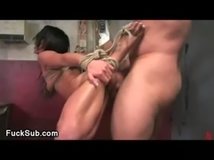 Bdsm hottie sucks bigcock gloryhole free