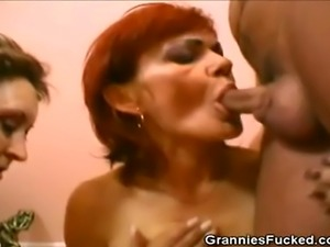 We have this two horny grannies on this scene as they enjoy a studs hard...