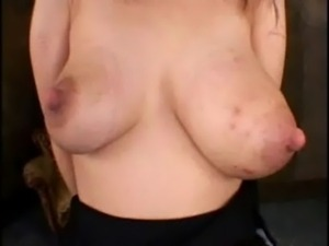 Titty Destruction, Huge tits used like punching bags. free