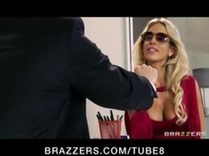 Cheating big tit blonde wife fucks salesman's big dick in office