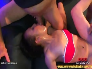 Sarah, a HOT brunette babe, swallowed cum! Loads of cum! Yes, you're going to...
