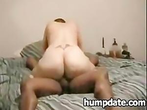 Bootylicious white babe rides bbc