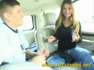 Bigtitts Teen fucks in car free