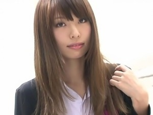 Sweet Japanese schoolgirl posing