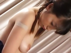 avmost Pretty Japanese school chick vibrated,
