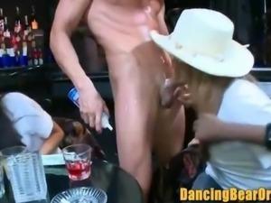 Horny Chicks Sucking Bear Strippers