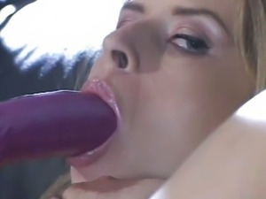 Blonde caucasian interracial blowjob