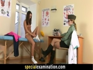 Rude army gyno exam for sweet young babe free