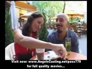 Amateur brunette sweet talking  ... free