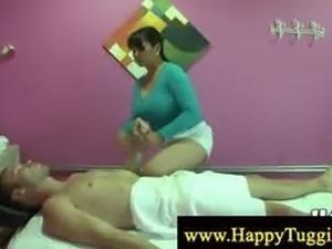 Chubby asian masseuse