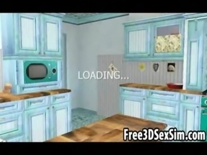 Sexy 3D cartoon housewife getting fucked hard free
