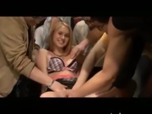 Blonde Teen Cutie 18 Ganged up On free