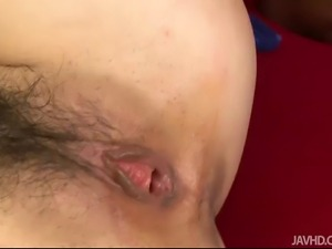 Beautiful Asian babe Hitomi Fujihra seduced by a kinky and pussy-craving...