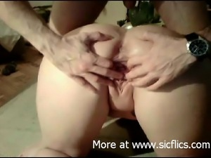 My nasty wife needs hard fist fucking in her huge sloppy holes to reach an...