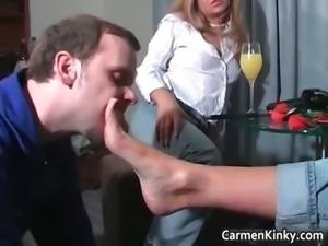 Dirty Carmen having pleasure with some