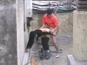 Brave man gets girl to fuck in the construction site tinyurl.com/100dates free