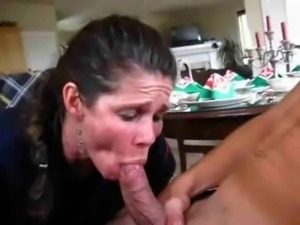 Maid suck dick, quick cum