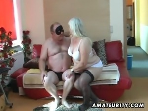 Chubby amateur wife sucks and fucks on her bed free