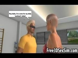Yummy 3D cartoon blonde hottie wanting a big cock free