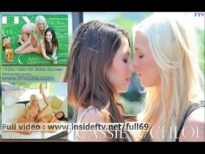 Cassie Chloe   Hot lesbian babes masturbating hard to orgasm free