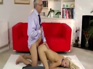 Young blonde takes it from behind free