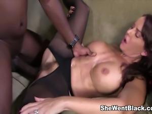 Big Tit MILF Janet Mason gets rough fucked by Mandingo and his Mammoth Black...