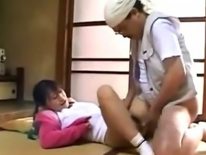 Japanese schoolgirl blowjob and fuck