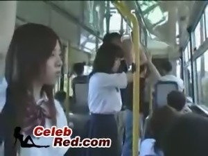 Japanese Schoolgirl and Maniac In Busjapanese