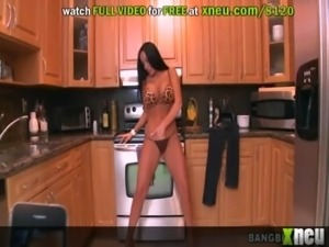 Smoking Hot MILF Gets A Cock In Her Mouth And Pussy In The Kitchen free
