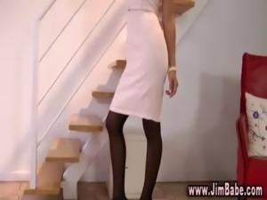 Sexy lingerie slut poses free