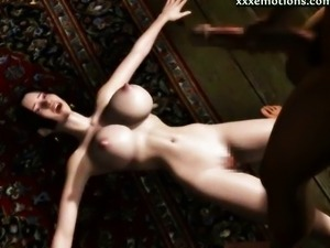 Busty animated gets rammed and titty cummed