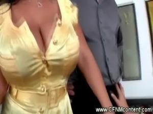 CFNM cock sucking fest free