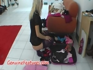 Backstage striptease by real czech blonde free
