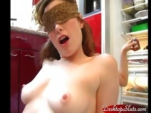 Aria Giovanni and Aimee Sweet Kitchen Food Sex
