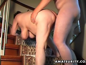 A chubby amateur mature wife homemade hardcore action with pussy toying,...